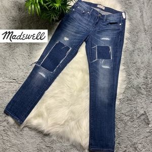 Madewell Patched Up' Slim Boyfriend Jeans